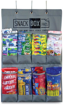 Picture of item GRR-70000045 a Snack Box Pros Breakroom Healthy Snacks Over The Door Organizer, 20 Compartments, 12 x 12 x 20, Gray, Free Delivery in 1-4 Business Days