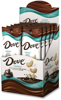 Picture of item GRR-22500046 a Dove® Milk Chocolate Cashews with Sea Salt, 1.6 oz Pouch, 10 Pouches/Carton, Free Delivery in 1-4 Business Days