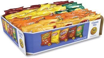 Picture of item GRR-22000403 a Frito-Lay Potato Chips Bags Variety Pack, Assorted Flavors, 1 oz Bag, 50 Bags/Carton, Free Delivery in 1-4 Business Days