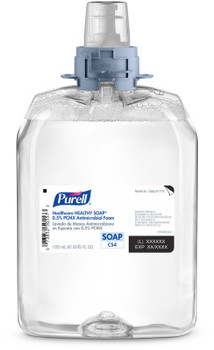 Picture of item GOJ-5178B a PURELL® Healthcare HEALTHY SOAP® 0.5% PCMX Antimicrobial Foam Soap for CS4 Dispensers. 1250 mL. Floral scent. 4 Refills/Case.