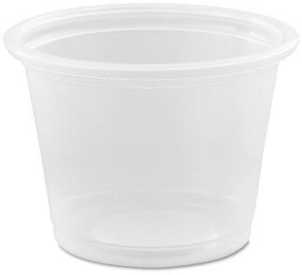 Picture of item 106-412 a Conex® Complements Portion Cup.  1.00 oz.  Clear.  125 Cups/Sleeve, 20 Sleeves/Case, 2,500 Cups/Case.