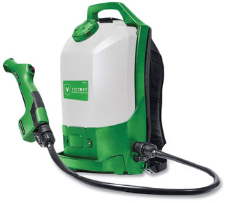 Victory Professional Cordless Electrostatic Backpack Sprayer. 2.25 Gal. Green
