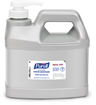 PURELL® Advanced Green Certified Refreshing Gel Hand Sanitizer. 1/2 gal. 4 bottles/case.