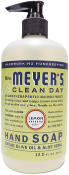 Mrs. Meyer's® Clean Day Liquid Hand Soap, Lemon Verbena, 12.5 oz, 6/Case.