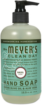 Mrs. Meyer's® Clean Day Liquid Hand Soap, Basil, 12.5 oz, 6/Case.