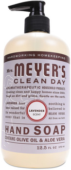 Mrs. Meyer's® Clean Day Liquid Hand Soap, Lavender, 12.5 oz, 6/Case.