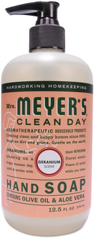 Mrs. Meyer's® Clean Day Liquid Hand Soap, Geranium, 12.5 oz, 6/Case.