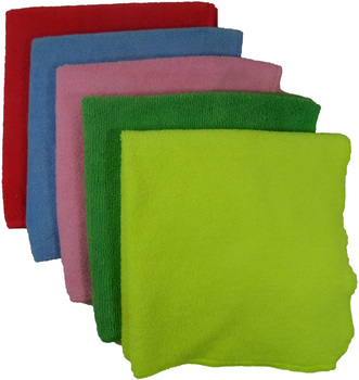 "Microfiber Cloth - GREEN - 16"" x 16"" - 12/bag, 192/Case"