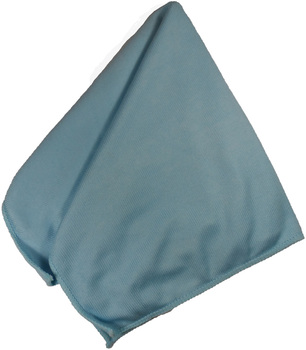 "Microfiber Glass Cloth - BLUE - 16"" x 16"" - 12/bag, 192/Case"