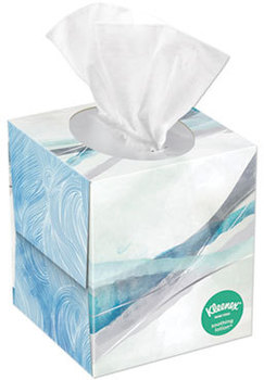 Kleenex® 2-Ply Lotion Facial Tissue. White. 65 Sheets/Box, 27 Boxes/Carton.