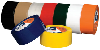 HP 200® Production Grade Hot Melt Packaging Tape.  48 mm x 100 meters, Yellow Color, 36 Rolls/Case