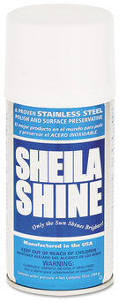 Sheila Shine Stainless Steel Cleaner & Polish. Oil Based.  10 oz aersol can.