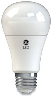 GE LED A19 Dimmable Light Bulb, Soft White, 10 W, 4/Pack
