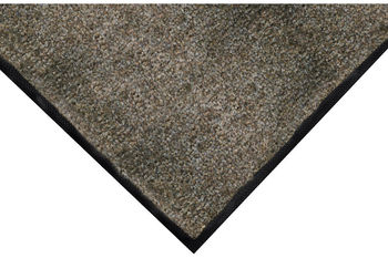ColorStar Indoor Wiper Mat with Cleated Back. 4 X 6 ft. Suede.